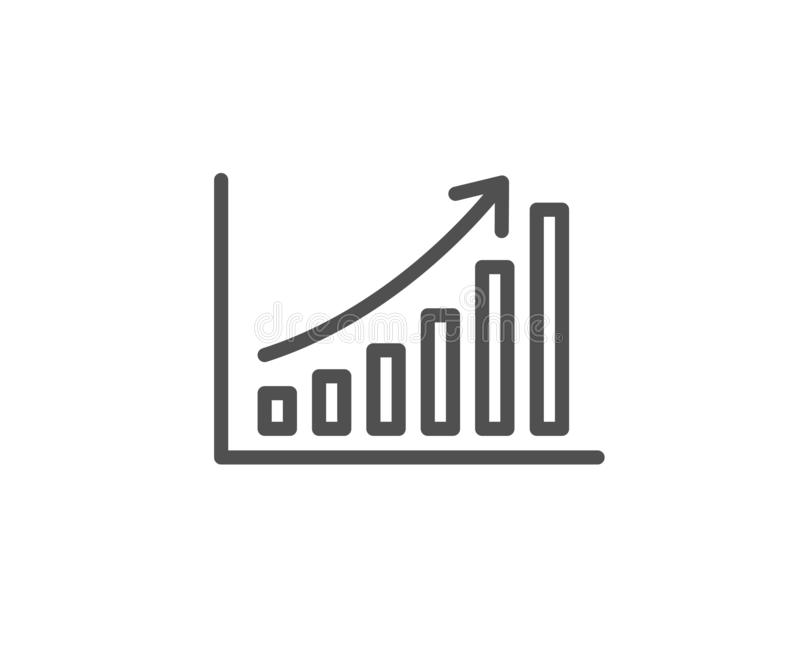 Linea icona del grafico Segno del grafico di colonna Vettore illustrazione vettoriale