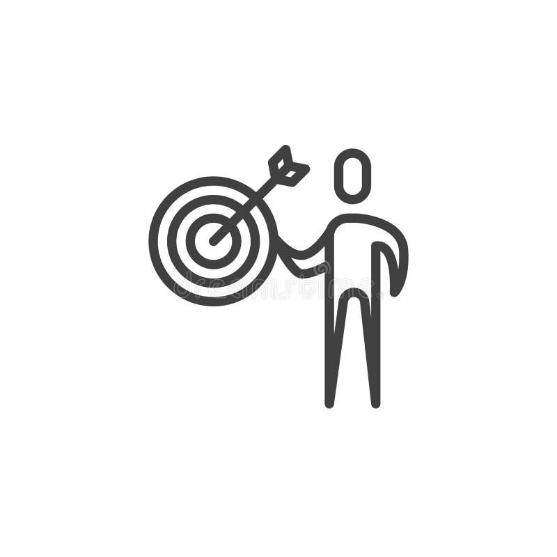 Linea icona del gruppo di affari illustrazione vettoriale