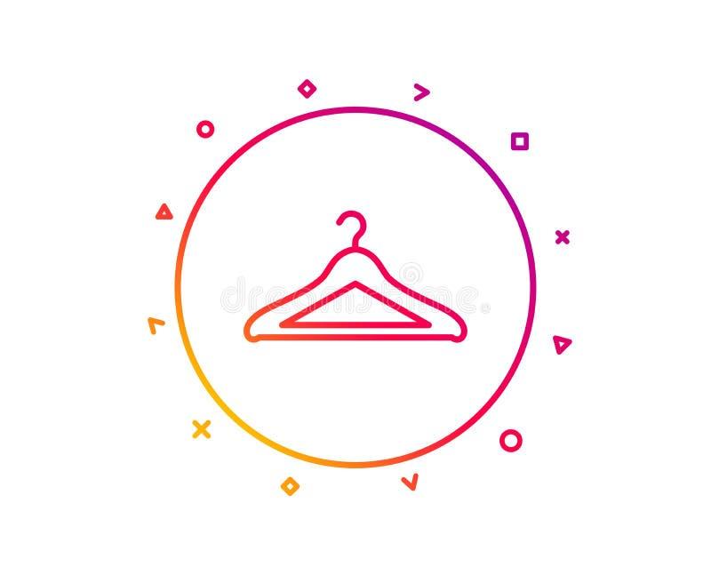 Linea icona del guardaroba Segno del guardaroba del gancio Vettore royalty illustrazione gratis