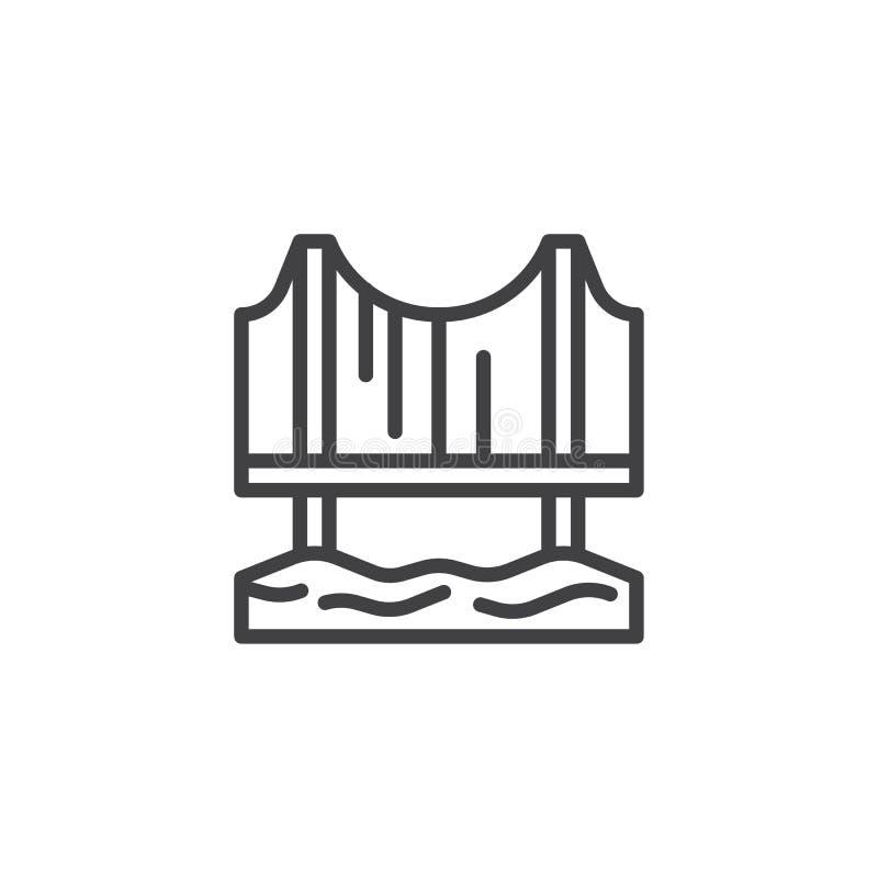 Linea icona del ponte illustrazione di stock