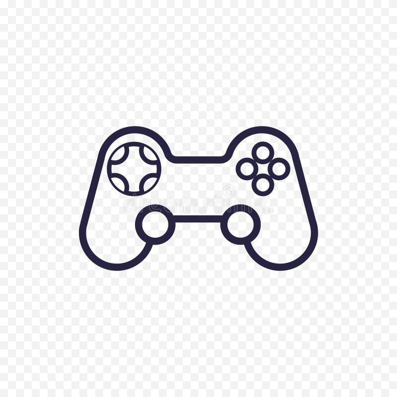 Linea icona del regolatore del gioco illustrazione di stock