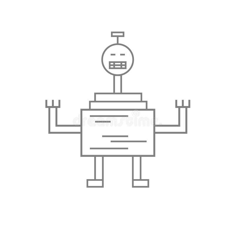 Linea icona del robot fotografie stock