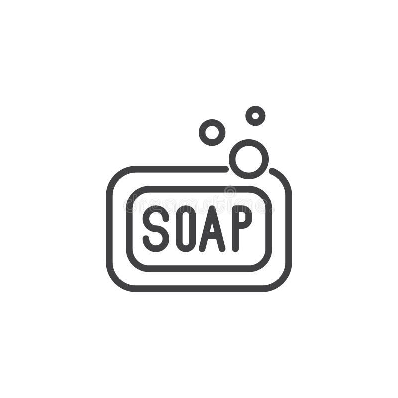 Linea icona del sapone royalty illustrazione gratis