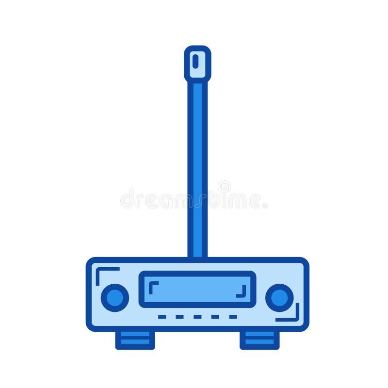 Linea icona del trasmettitore illustrazione di stock