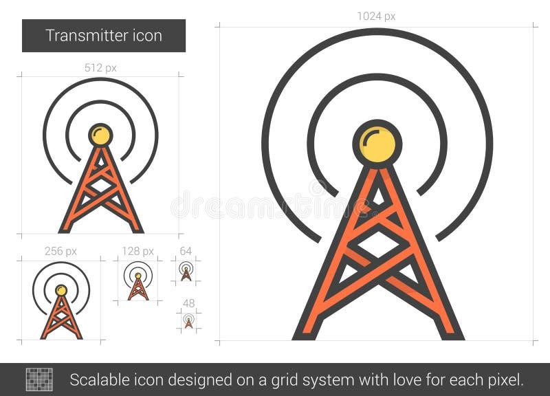 Linea icona del trasmettitore illustrazione vettoriale
