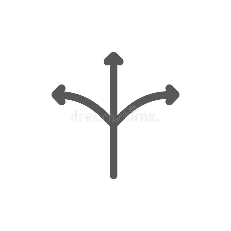 Linea icona del usb e versatile illustrazione di stock