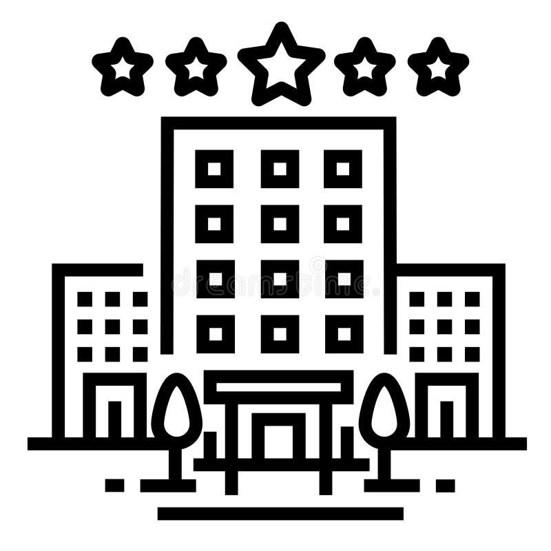 Linea icona dell'hotel illustrazione di stock
