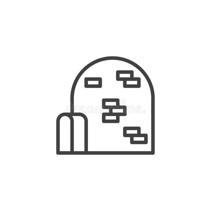 Linea icona dell'iglù illustrazione di stock