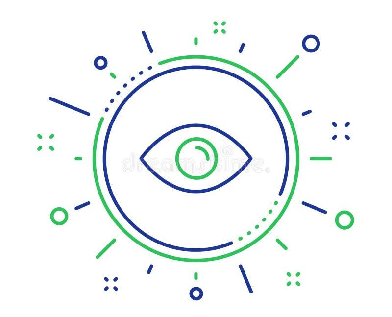 Linea icona dell'occhio Guardi o segno ottico della visione Vettore illustrazione vettoriale