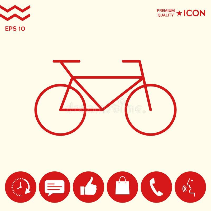 Download Linea Icona Della Bicicletta Illustrazione Vettoriale - Illustrazione di viaggio, concorrenza: 117982197