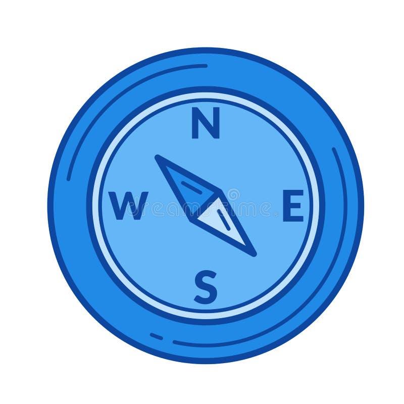Linea icona della bussola illustrazione di stock