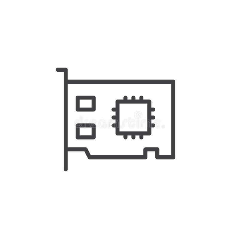 Linea icona della carta della rete illustrazione di stock