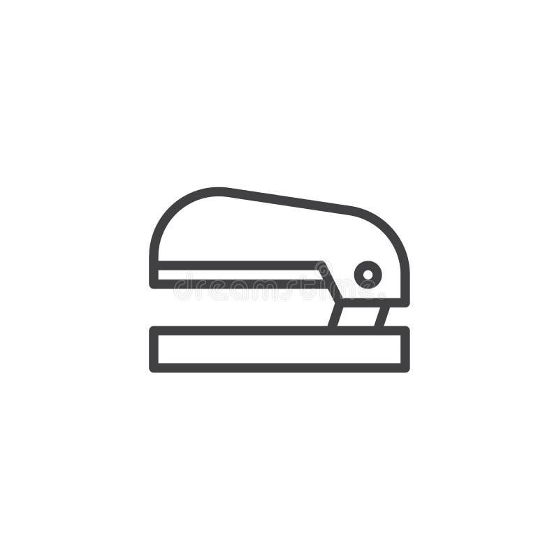 Linea icona della cucitrice meccanica illustrazione di stock