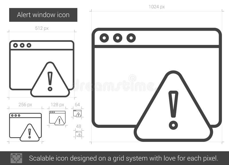 Linea icona della finestra di avviso illustrazione vettoriale