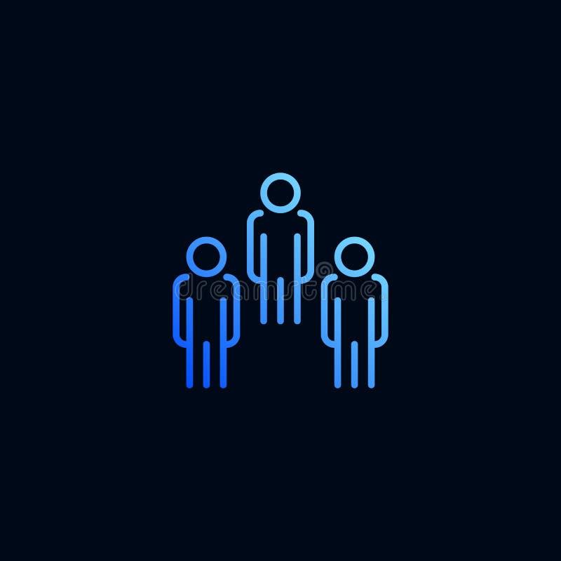 Linea icona della gente Illustrazione di vettore nello stile lineare illustrazione vettoriale