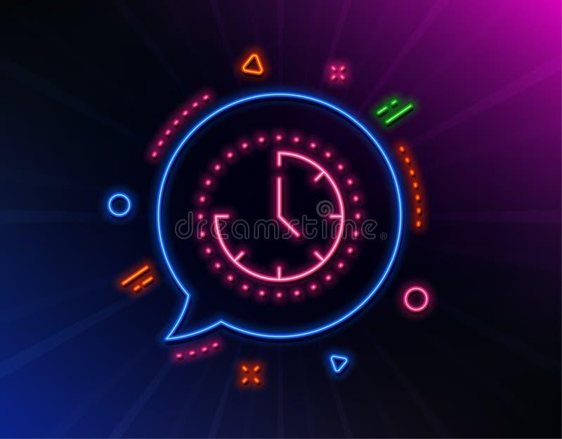 Linea icona della gestione di tempo segno dell'orologio vigilanza Vettore illustrazione vettoriale