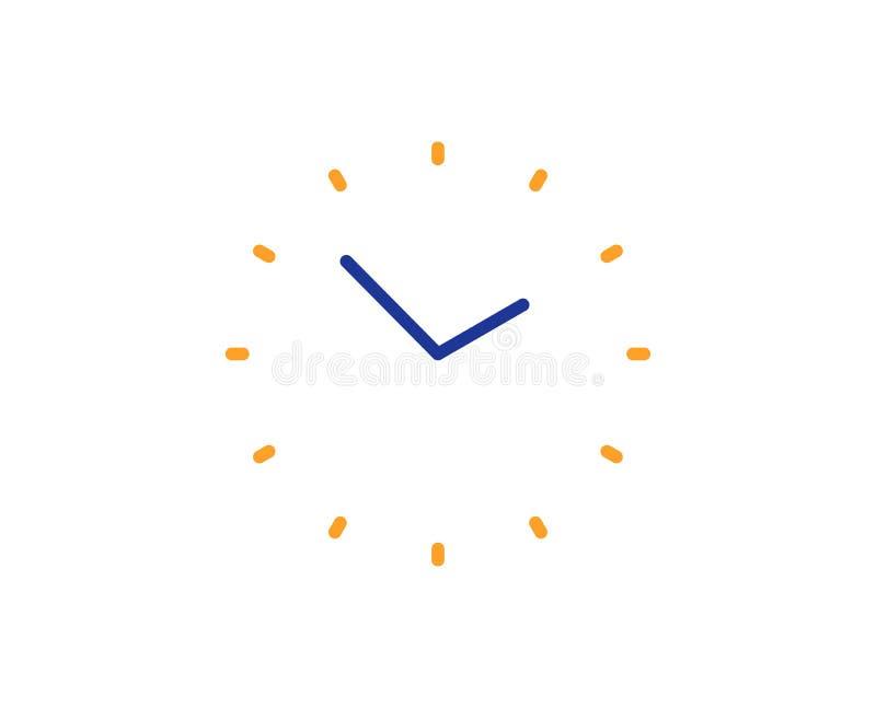 Linea icona della gestione di tempo segno dell'orologio vigilanza Vettore illustrazione di stock