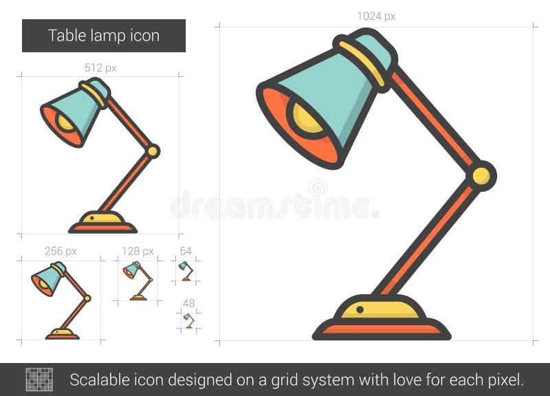 Linea icona della lampada da tavolo illustrazione vettoriale