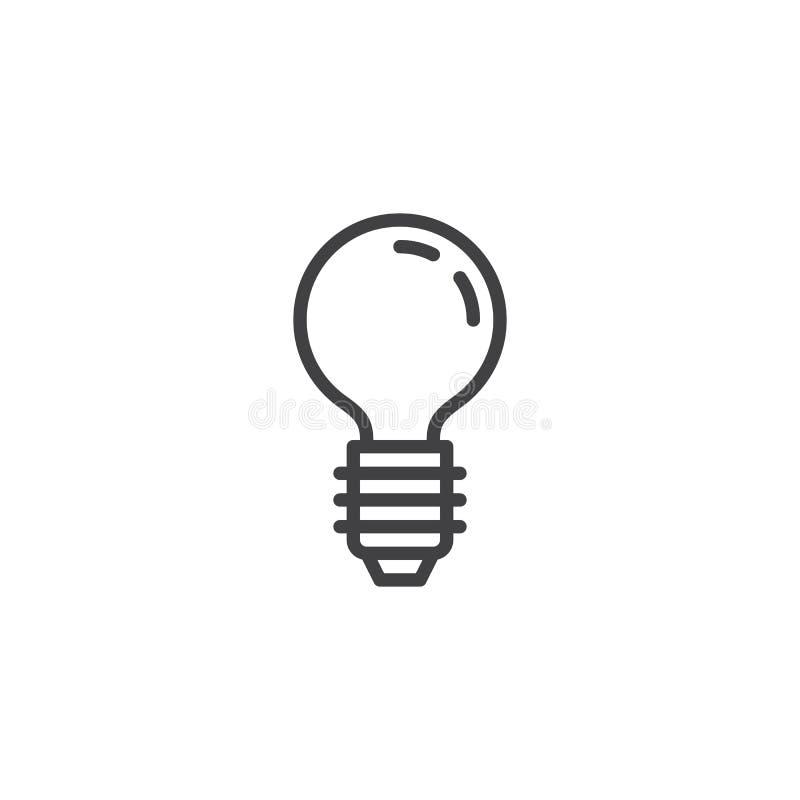 Linea icona della lampadina illustrazione di stock