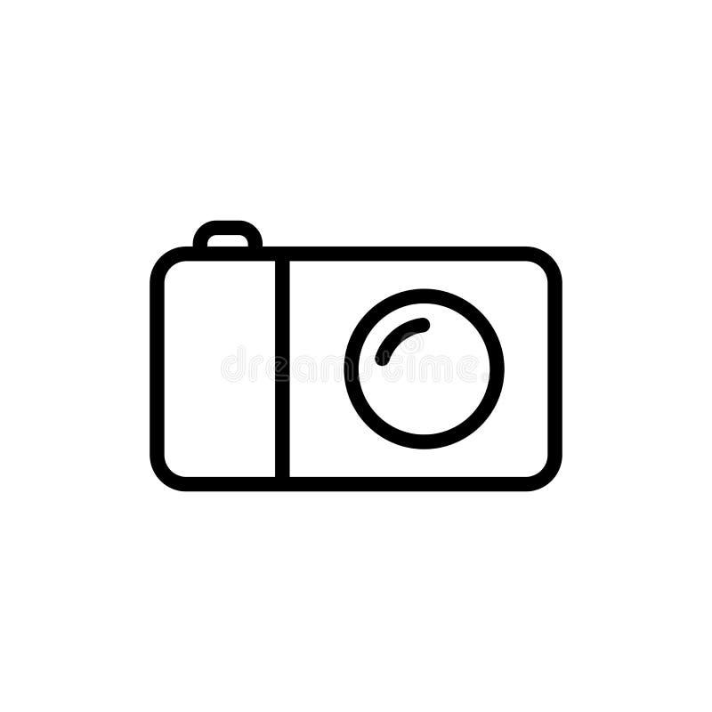 linea icona della macchina fotografica su fondo bianco royalty illustrazione gratis