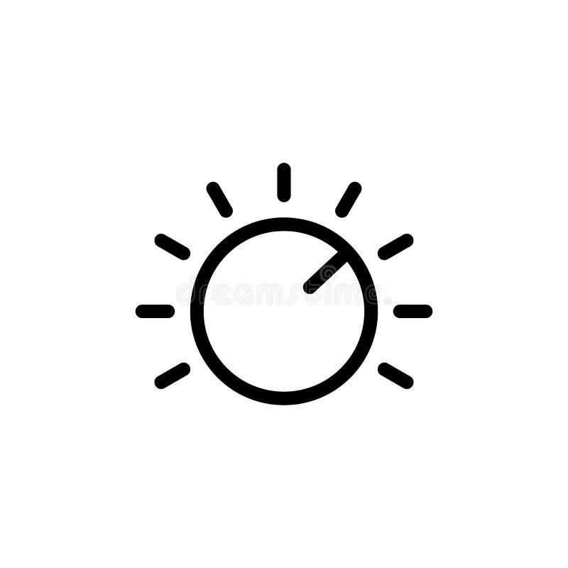 linea icona della manopola su fondo bianco illustrazione di stock