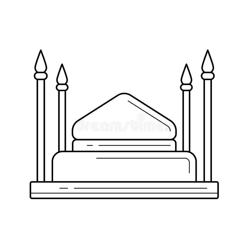 Linea icona della moschea illustrazione vettoriale