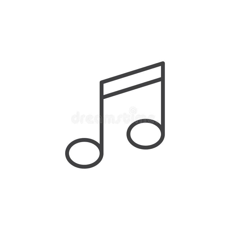 linea icona della nota musicale illustrazione vettoriale