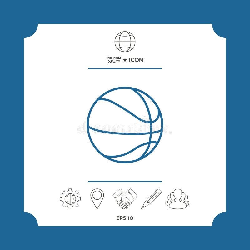 Linea icona della palla di pallacanestro illustrazione vettoriale