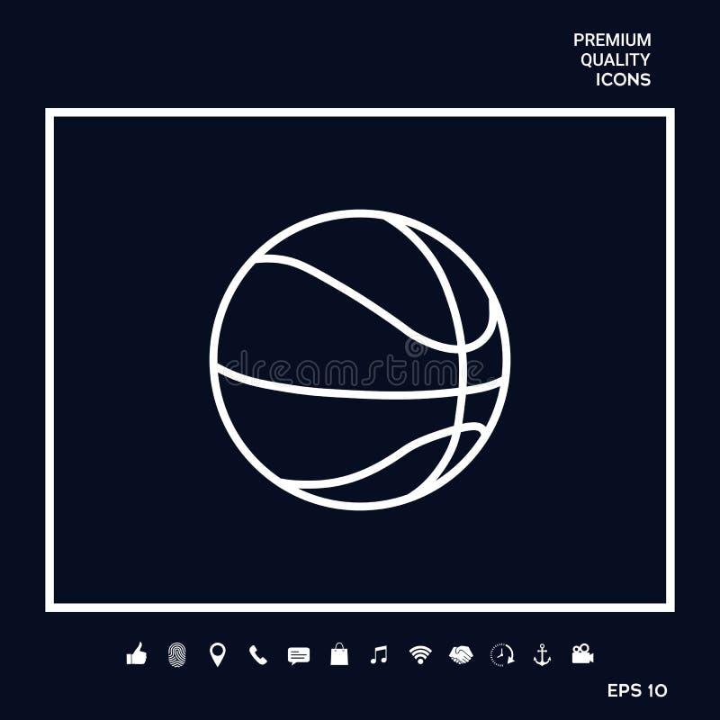 Linea icona della palla di pallacanestro royalty illustrazione gratis