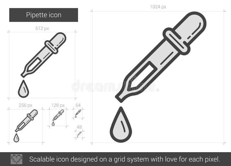 Linea icona della pipetta royalty illustrazione gratis