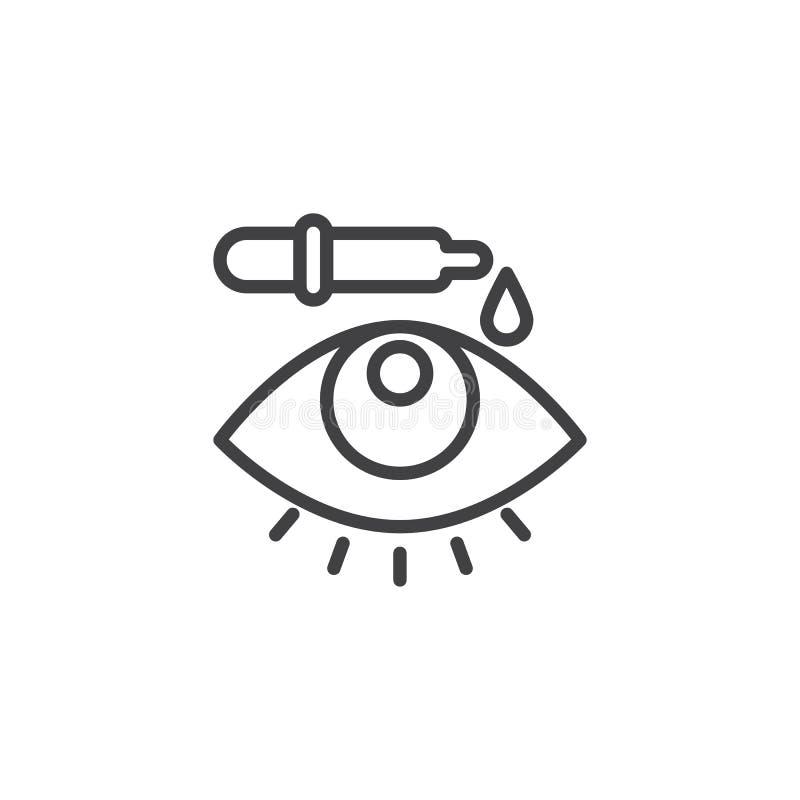 Linea icona della pipetta del collirio illustrazione vettoriale