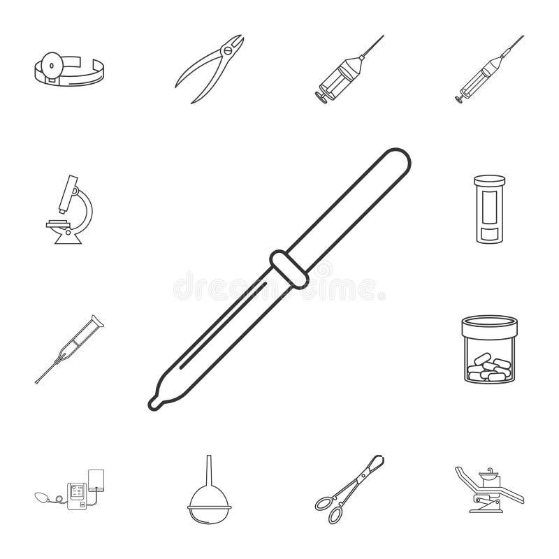 Linea icona della pipetta Insieme dettagliato degli strumenti della medicina Progettazione grafica premio Una delle icone della r illustrazione vettoriale