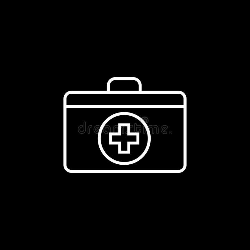 Linea icona della scatola del pronto soccorso illustrazione di stock