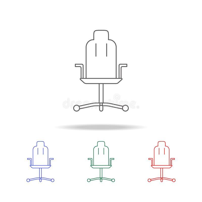 Linea icona della sedia dell'ufficio Elementi di vita del gioco nelle multi icone colorate Icona premio di progettazione grafica  illustrazione vettoriale
