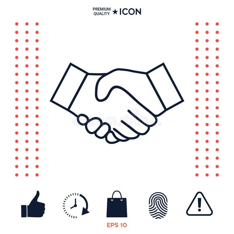 Download Linea Icona Della Stretta Di Mano Illustrazione Vettoriale - Illustrazione di contratto, riunione: 117975519