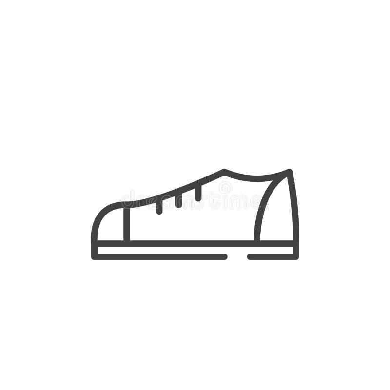 Linea icona delle scarpe illustrazione di stock