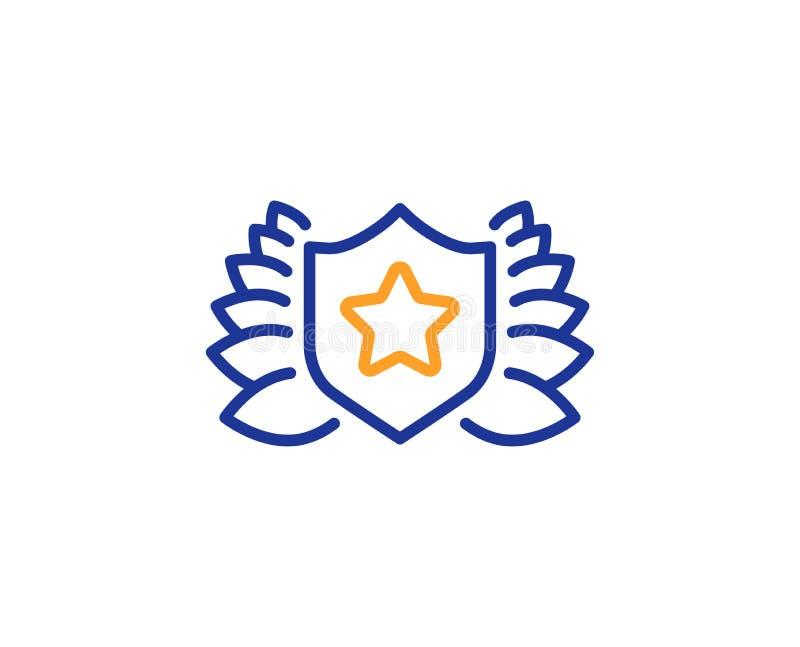 Linea icona dello schermo del premio Segno della corona dell'alloro Vettore royalty illustrazione gratis