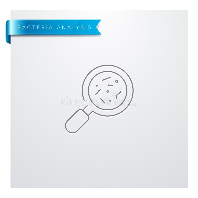 Linea icona di analisi dei batteri royalty illustrazione gratis
