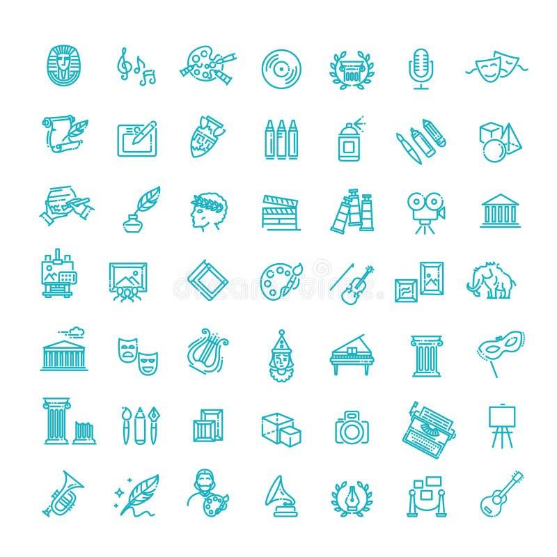 Linea icona di arte - vettore royalty illustrazione gratis