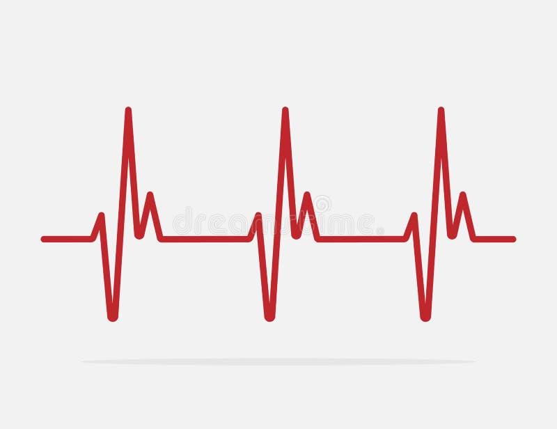 Linea icona di battito cardiaco di vettore illustrazione di stock