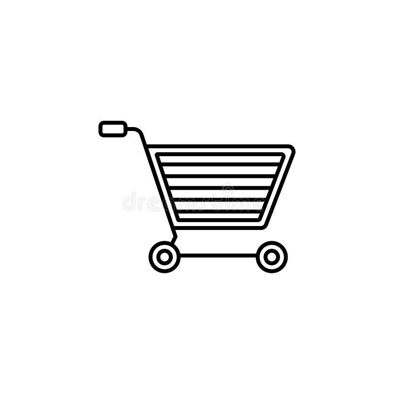 Linea icona di commercio elettronico royalty illustrazione gratis