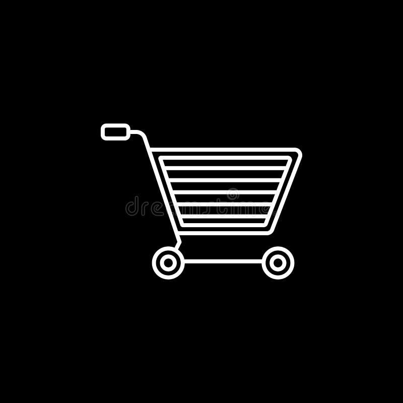 Linea icona di commercio elettronico illustrazione vettoriale