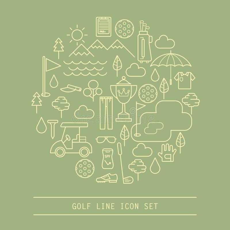 Linea icona di golf illustrazione vettoriale