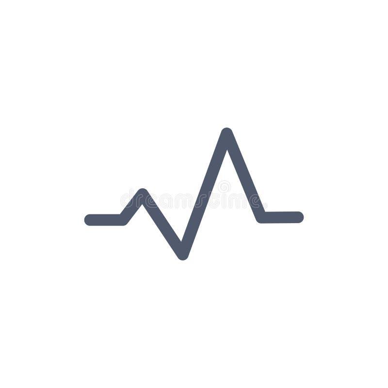 Linea icona di impulso del monitor del battito cardiaco di vettore di arte per i rapporti medici dei apps, presentazioni Illustra illustrazione vettoriale