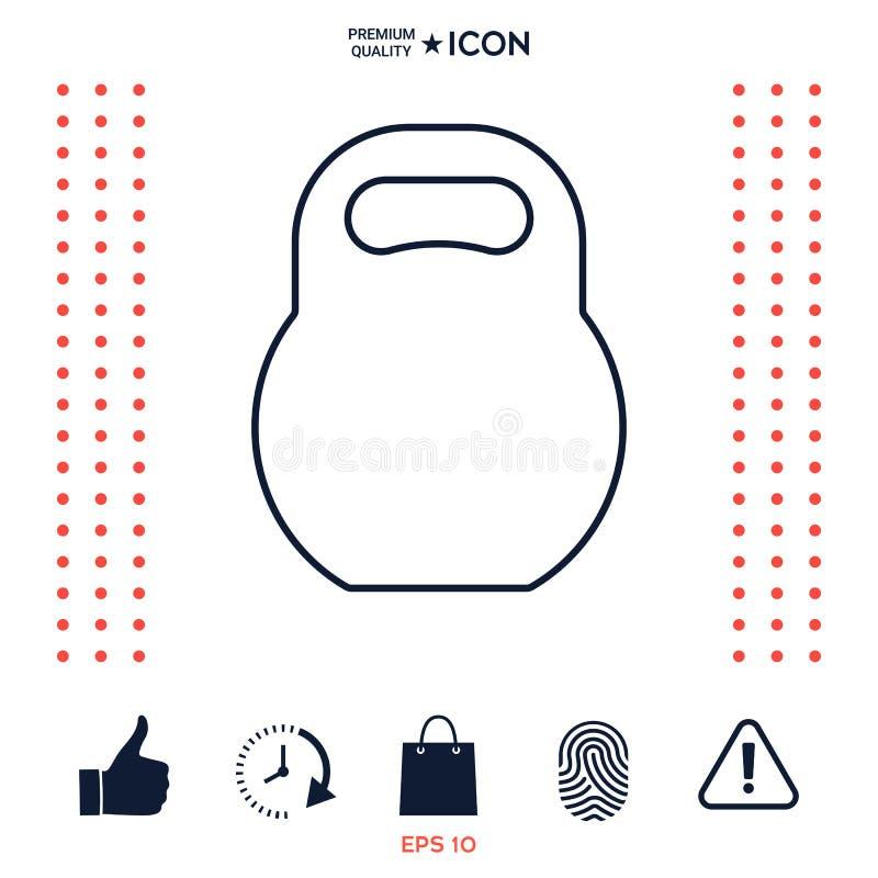 Download Linea icona di Kettlebell illustrazione vettoriale. Illustrazione di lifestyle - 117975711