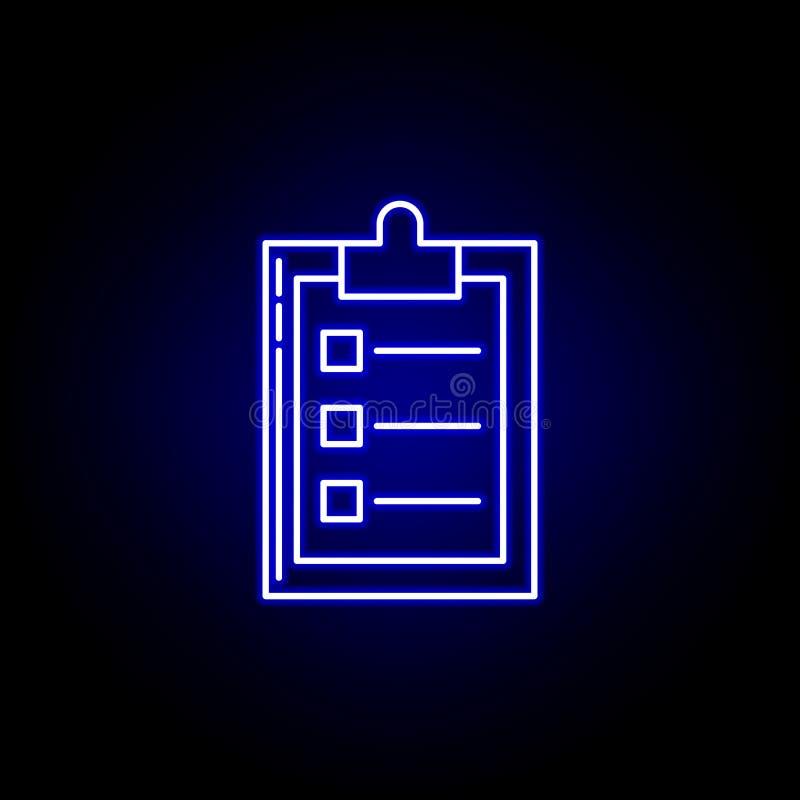 linea icona di piano di logistica nello stile al neon blu Metta delle icone dell'illustrazione di logistica I segni, simboli poss illustrazione vettoriale