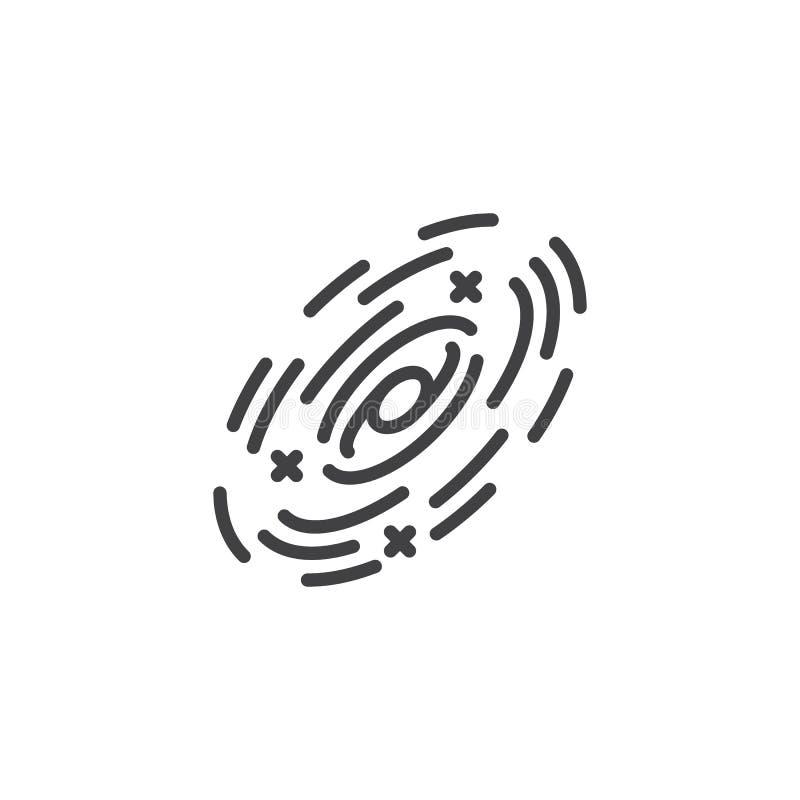 Linea icona di rotazione della galassia illustrazione vettoriale