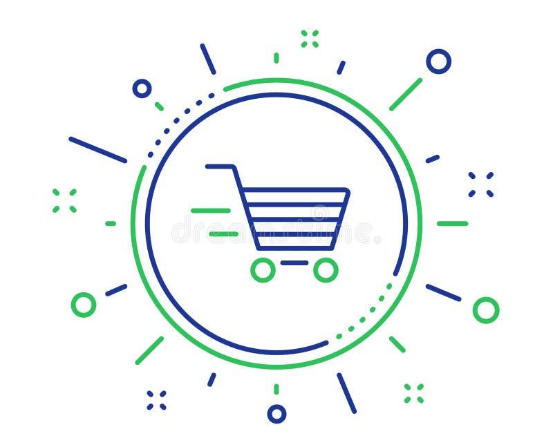 Linea icona di servizio di distribuzione Segno del carrello Vettore illustrazione di stock
