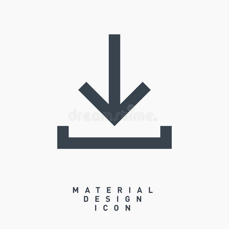 Linea icona di simbolo della freccia di download di vettore immagini stock libere da diritti