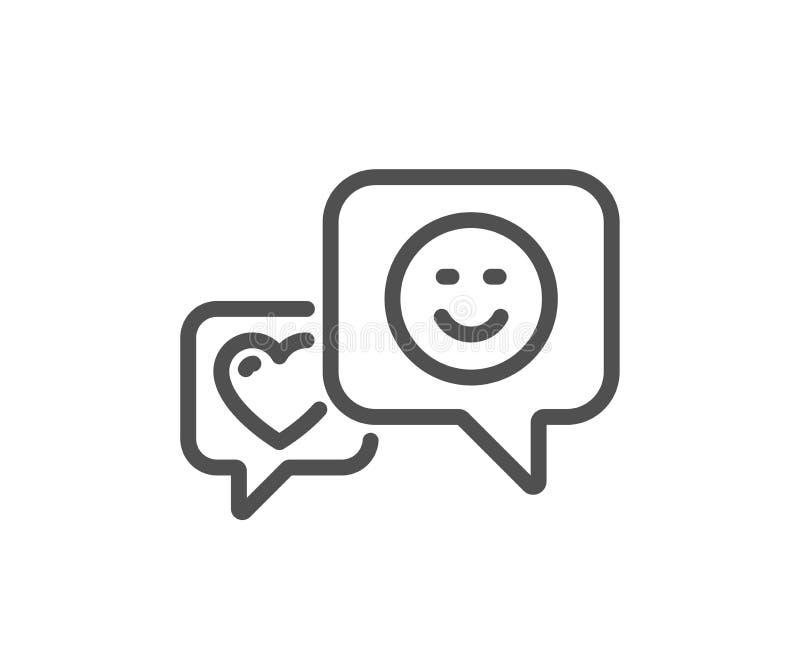 Linea icona di sorriso e del cuore Favorito come il segno Vettore royalty illustrazione gratis